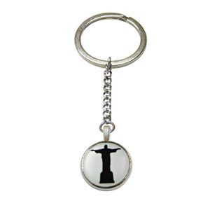 Circular Christ The Redeemer Rio Statue Keychain